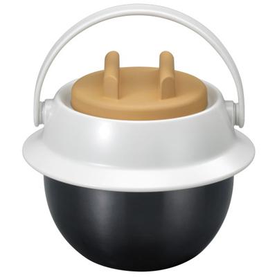 【クリックで詳細表示】お米とお湯を入れるだけ。おかゆ釜(0.78L) :KL-800