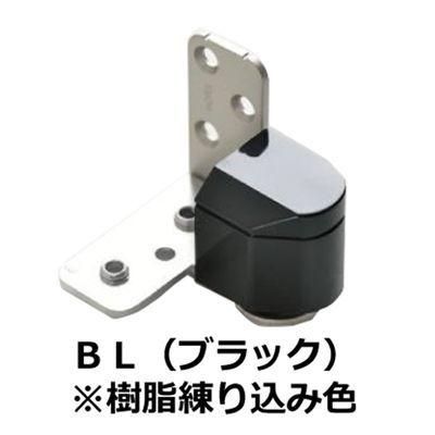 【クリックで詳細表示】№1910 3次元調整ピボットヒンジ 右 ブラック樹脂 :0003-05621