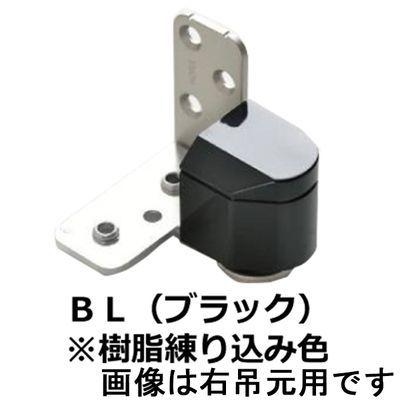 【クリックで詳細表示】№1910 3次元調整ピボットヒンジ 左 ブラック樹脂 :0003-05622