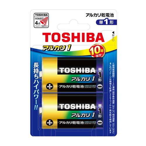 東芝 4904530027215 アルカリ乾電池アルカリ1 LR20AN 2BP (2本)