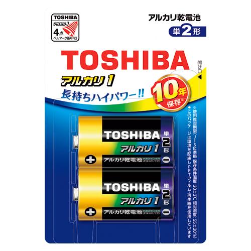 東芝 4904530027284 アルカリ乾電池アルカリ1 LR14AN 2BP (2本)