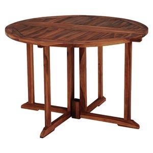 フォールディングテーブル/折りたたみテーブル 【円形 幅110×奥行110×高さ76cm】 木製 オイル仕上げ 〔リビング〕【代引不可】