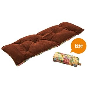 ds-2335772 枕&ごろ寝布団付き リクライニングベッド/折りたたみベッド 【幅60cm】 リバーシブル式 スチールパイプ 〔リビング〕 (ds233