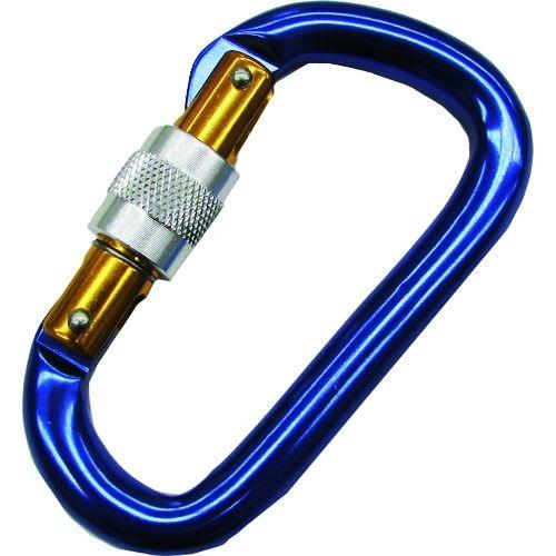 水本 アルミカラビナ環付(ブルー) 線径12mm 長さ116mm