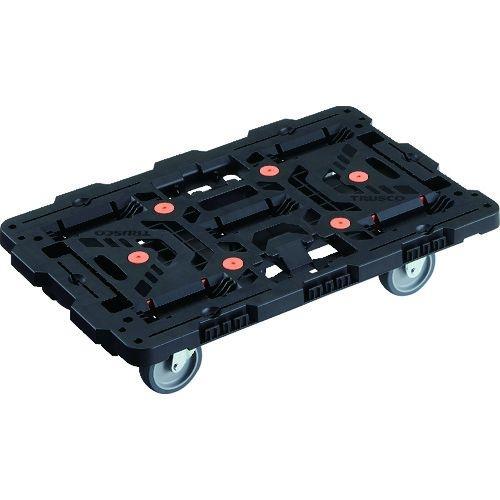 TRUSCO 連結式樹脂製平台車 ビートル 700X450 自在3輪