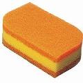 スコッチブライト 抗菌ウレタンスポンジだわし リーフ型 オレンジ